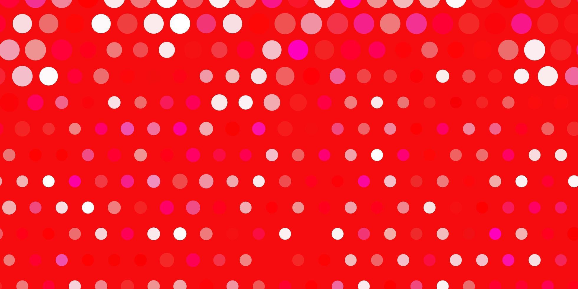 disposition de vecteur rose clair, rouge avec des formes de cercle.