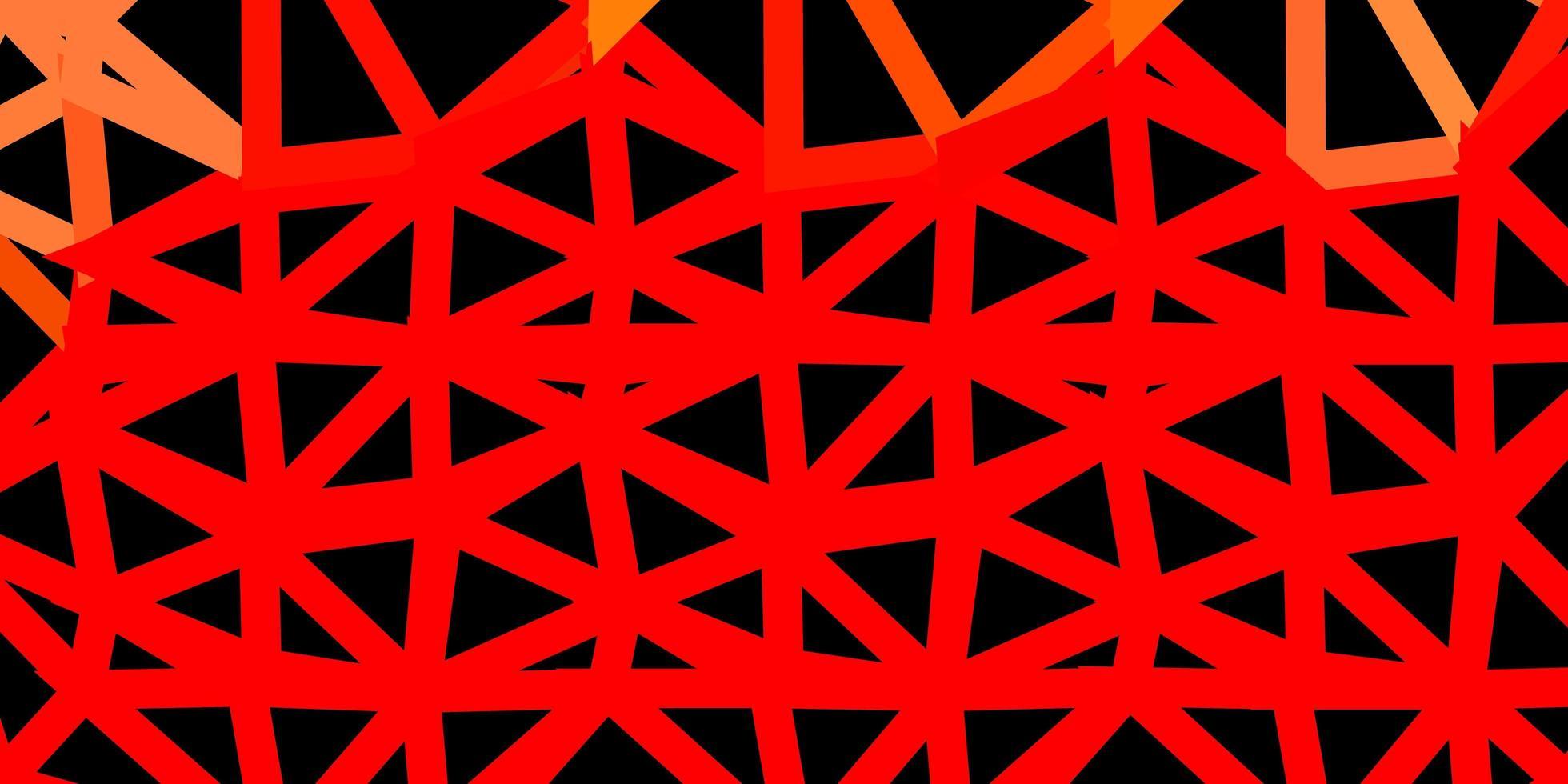 motif de triangle abstrait vecteur rouge clair.