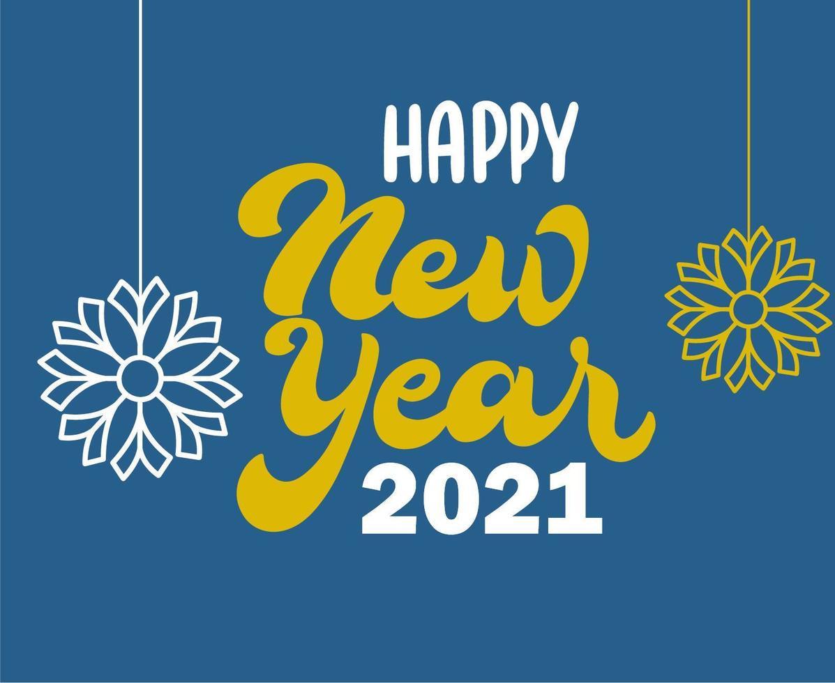 Résumé de bonne année 2021 vecteur