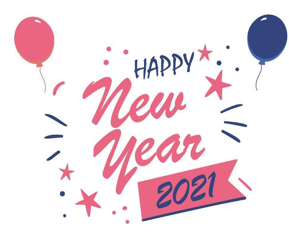 Bonne année 2021 vecteur