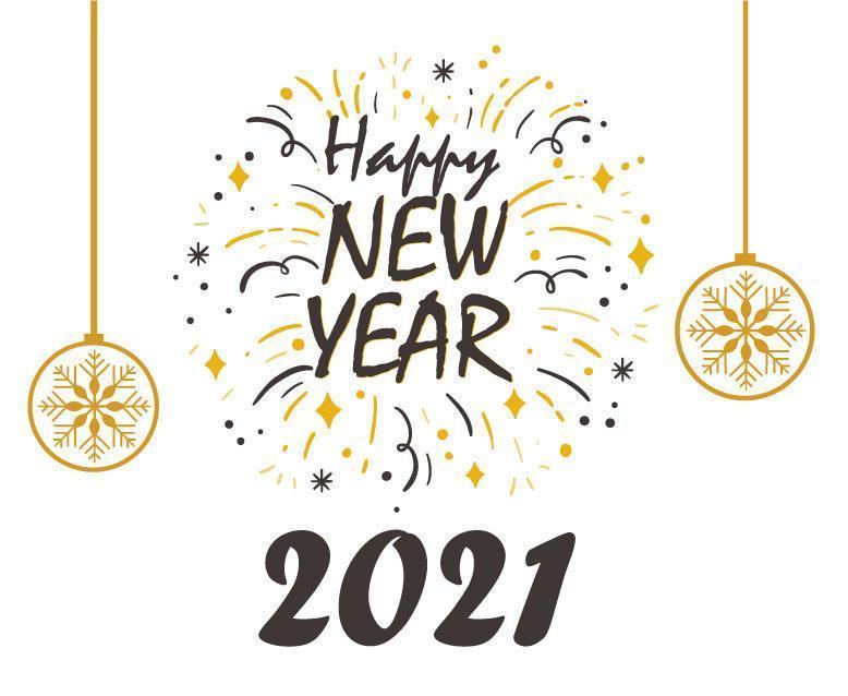 Fond de bonne année 2021 vecteur