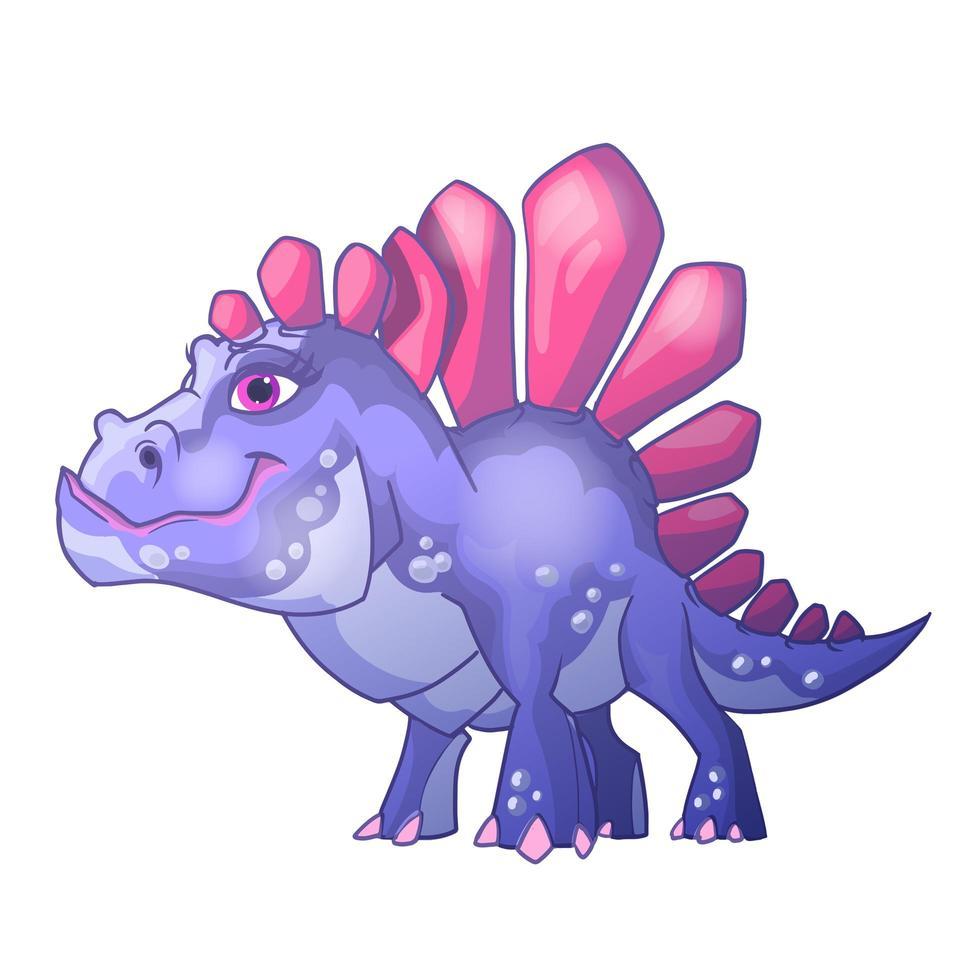 joli stand de dinosaure. stégosaure. illustration vectorielle de personnage de dessin animé. peut être utilisé pour la conception d'impression carte de voeux utilisée pour la conception d'impression, bannière, affiche, modèle de flyer vecteur