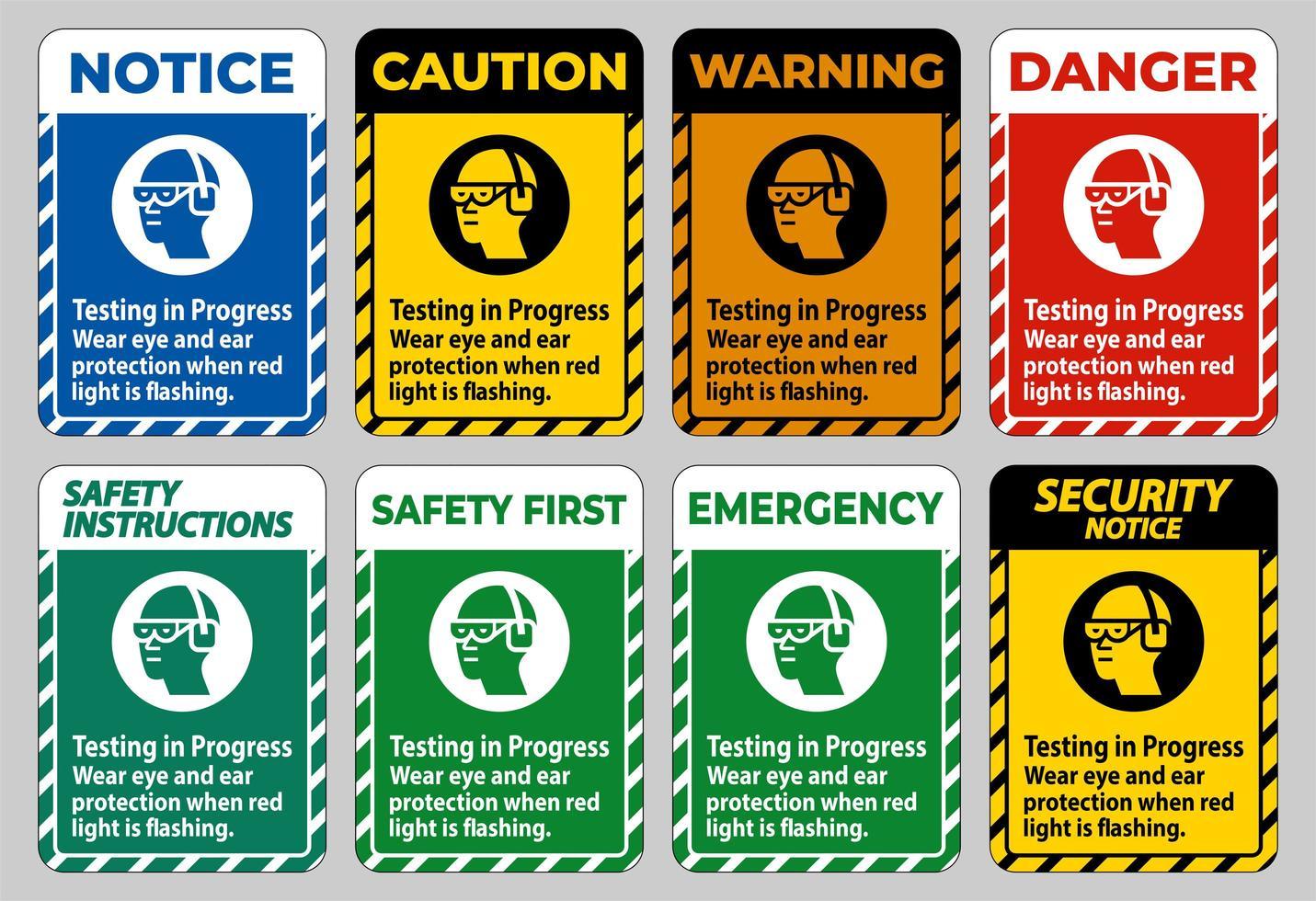 porter une protection oculaire et auditive vecteur