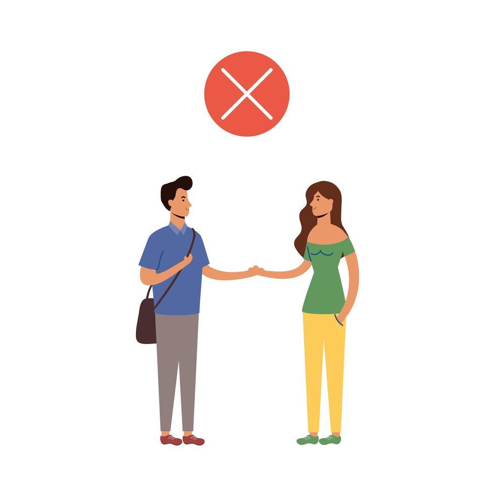 distance sociale entre la conception de vecteur homme et femme
