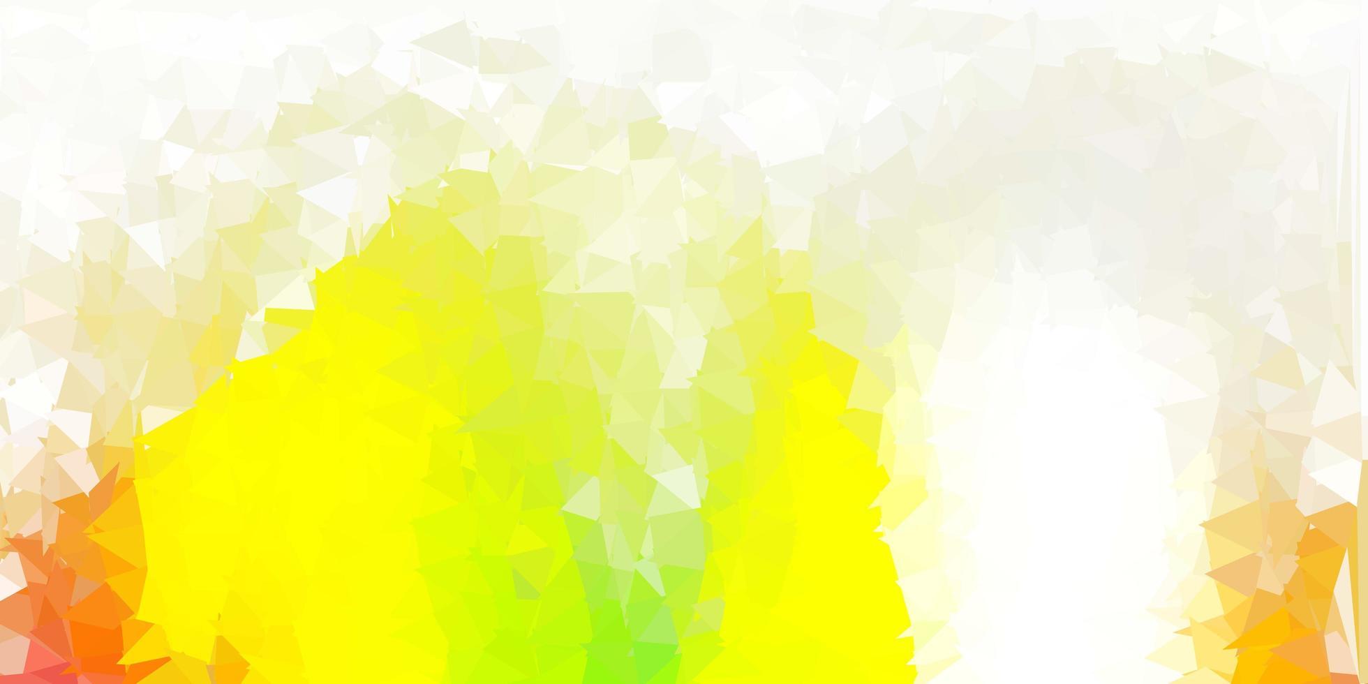 modèle de mosaïque triangle vecteur vert clair, rouge.