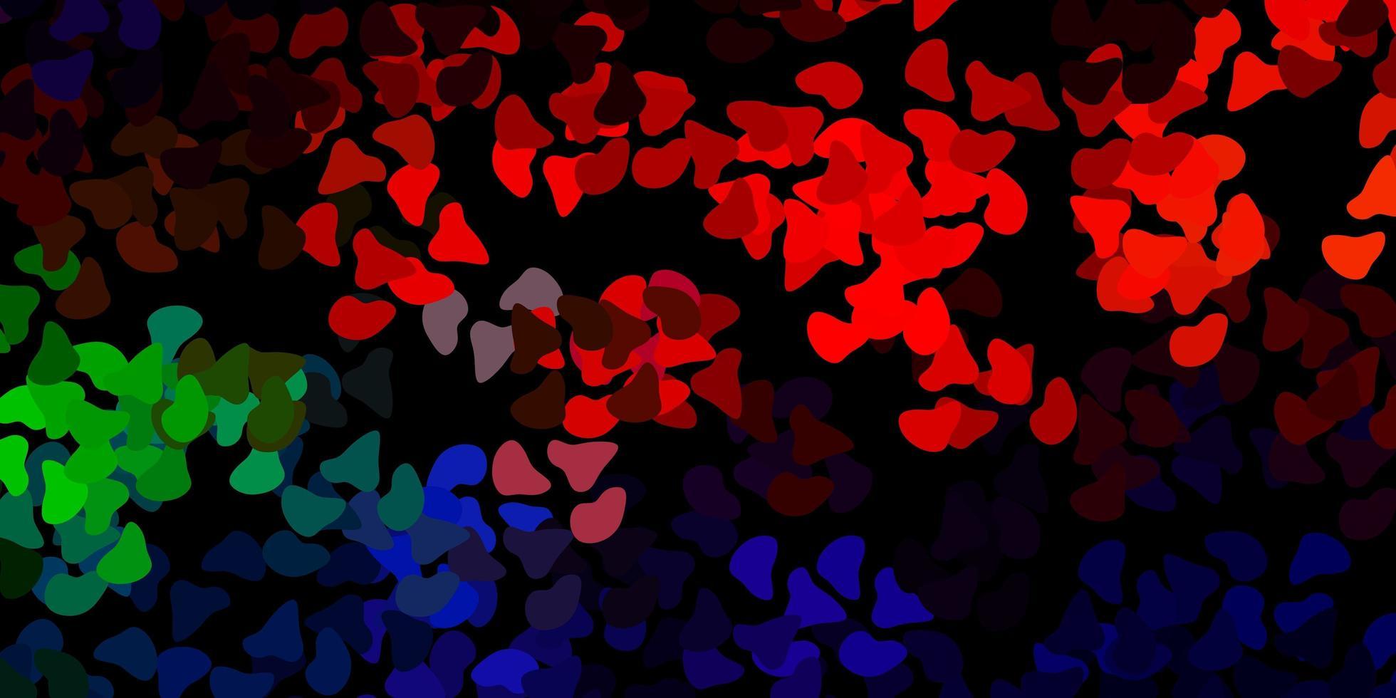 modèle vectoriel multicolore foncé avec des formes abstraites.