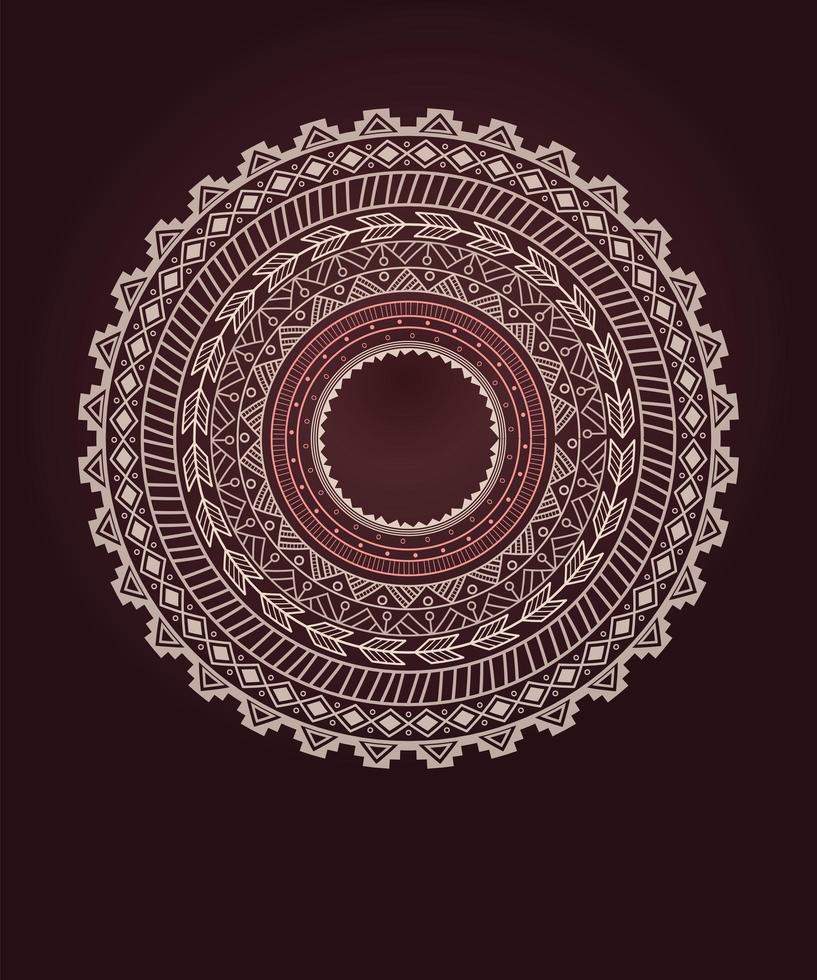 ornement de cercle ethnique aztèque vecteur