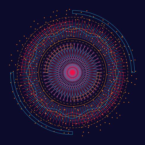 Visualisation d'éléments fractals de Big Data vecteur