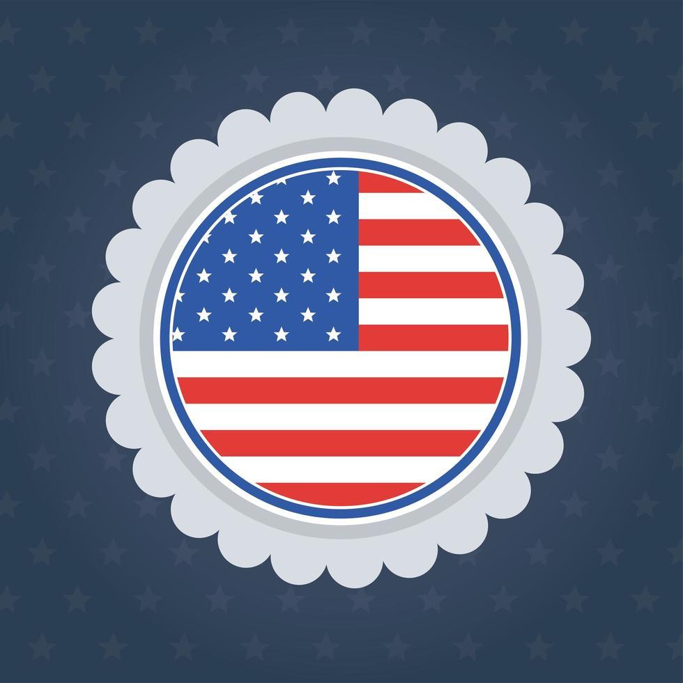 conception de vecteur de timbre joint drapeau usa