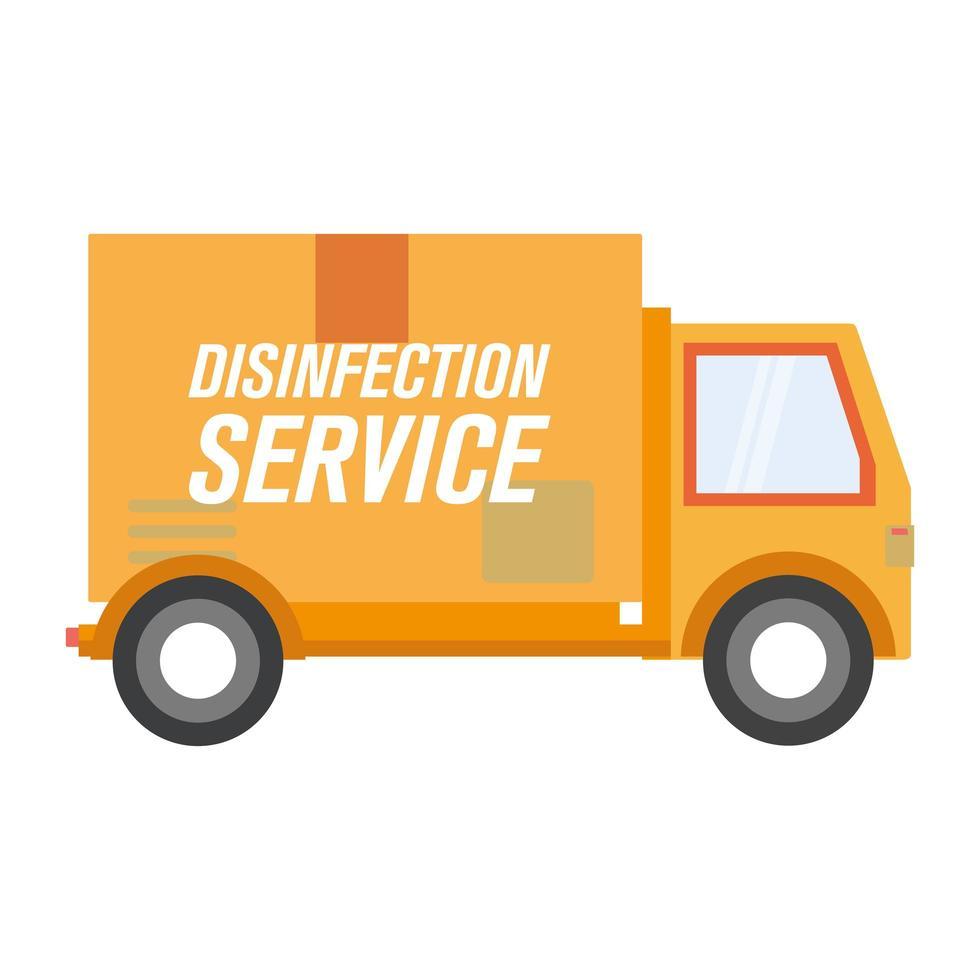 conception de vecteur de camion de service de désinfection
