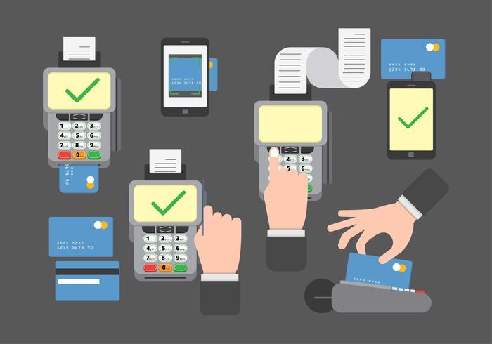 Vecteur de lecteurs de cartes de crédit / dette