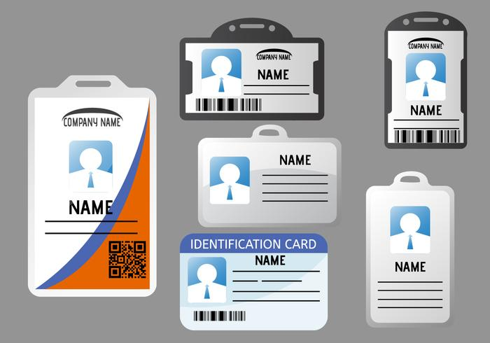 Carte d'identité vecteur