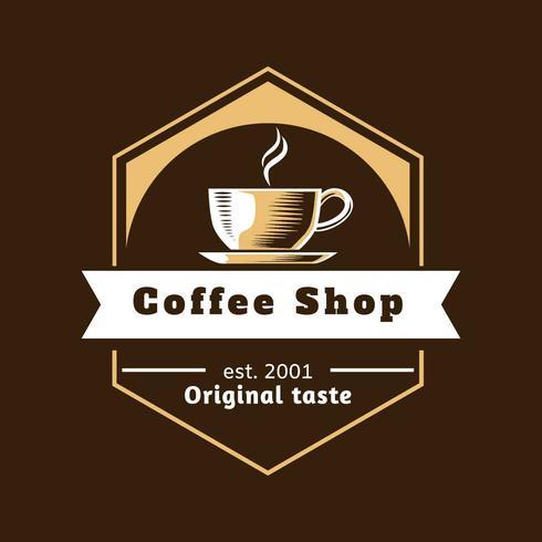 Vecteur de café Shop Logo