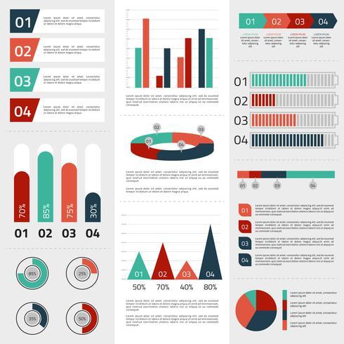 Éléments d'infographie d'affaires vecteur