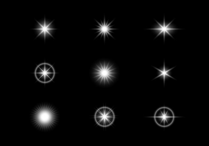 Effets de lumière rougeoyante vecteur