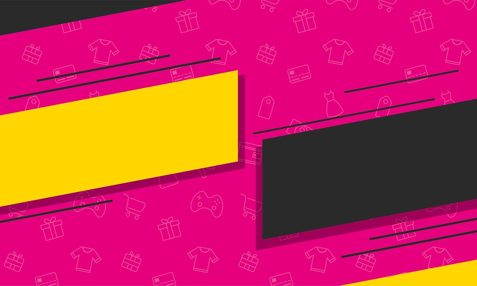 icône d'affiche de couleurs de bannière de vente vecteur
