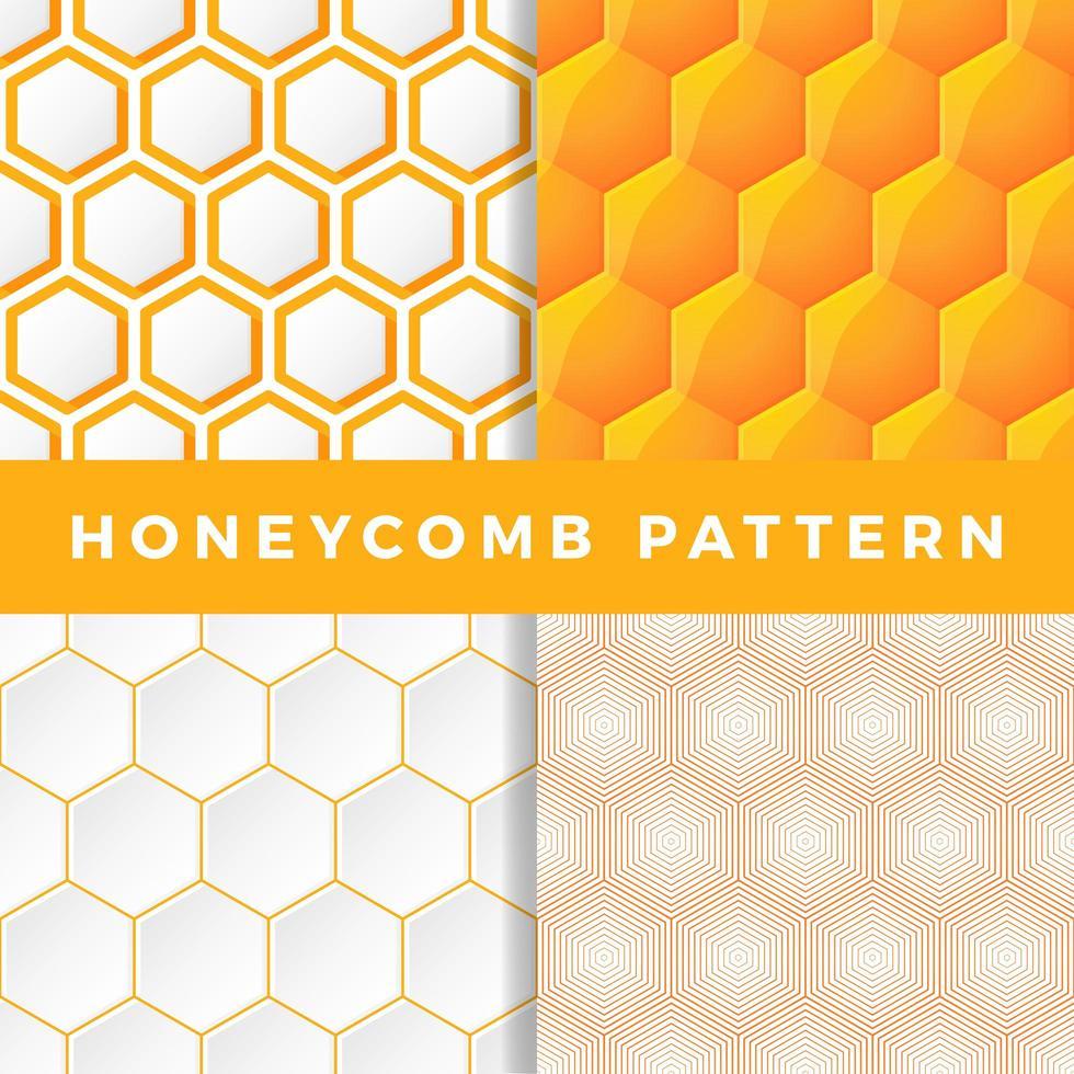 ensemble de motifs en nid d'abeille vecteur
