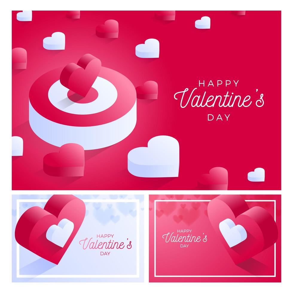 jeu de cartes saint valentin vecteur