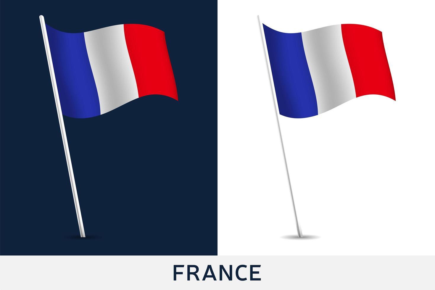 drapeau de vecteur de france