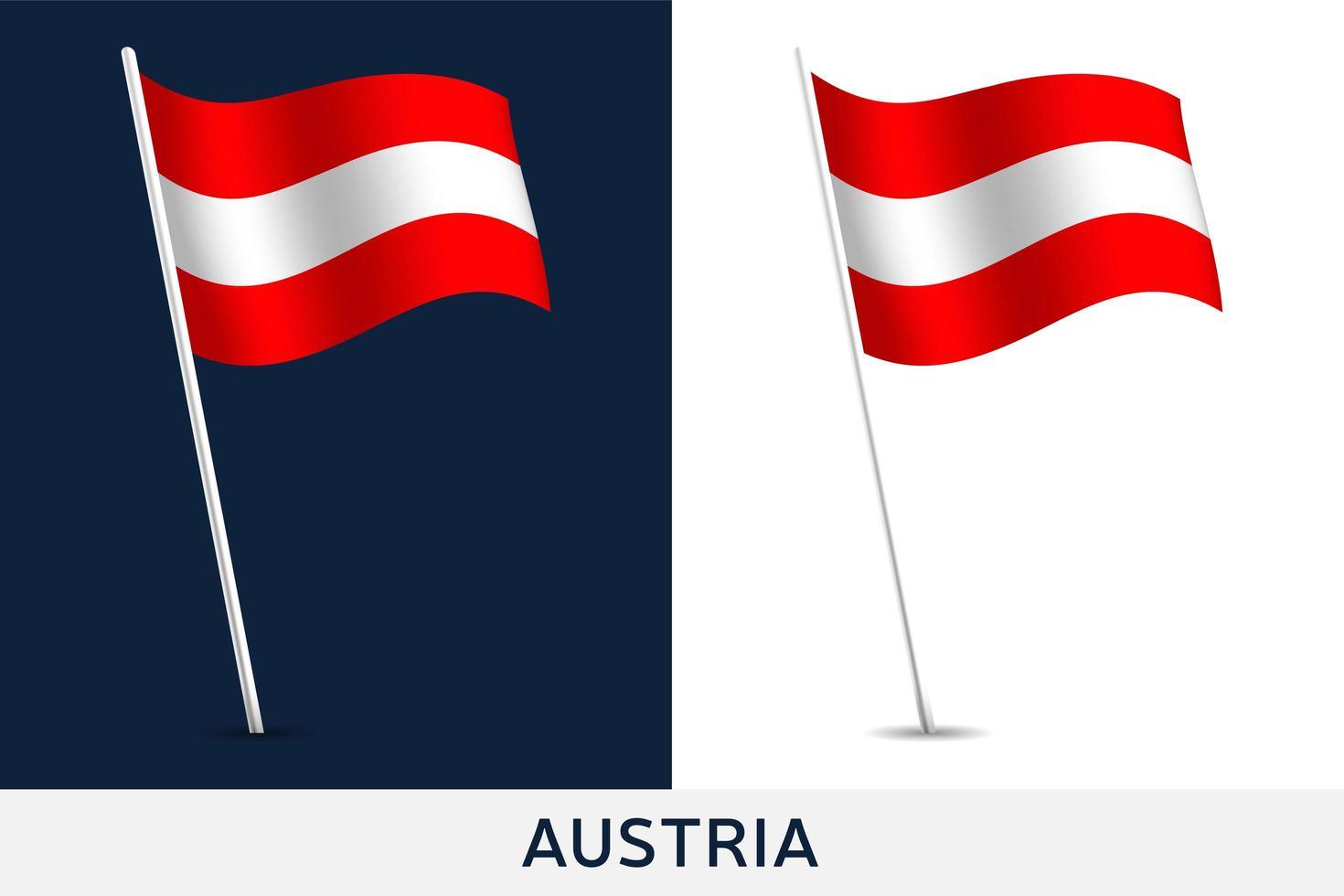 drapeau de vecteur autriche