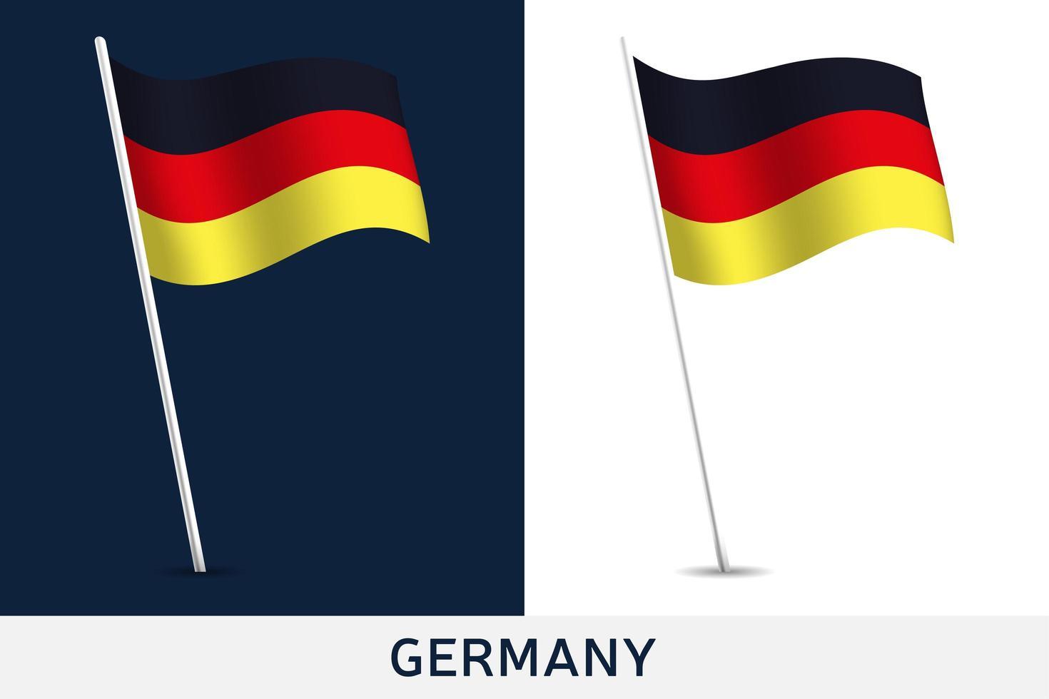 drapeau de vecteur de l'Allemagne