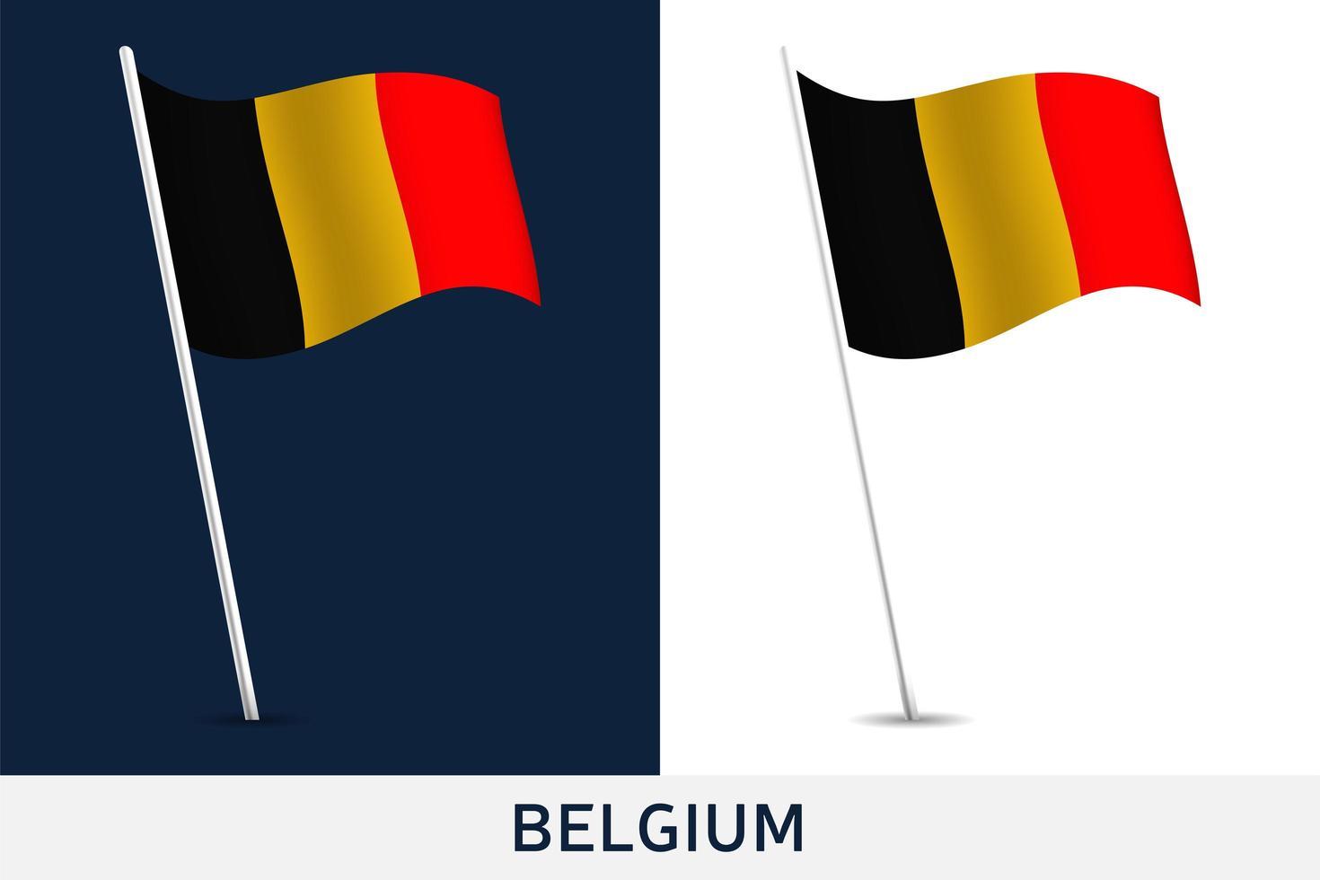 drapeau de vecteur de Belgique