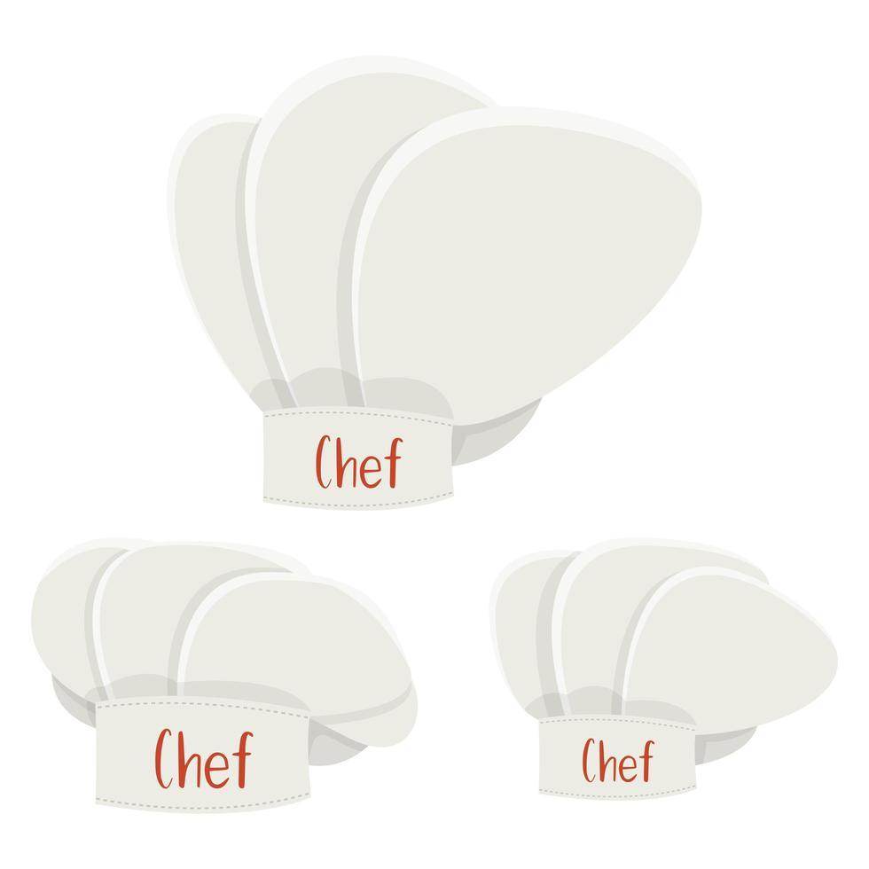 illustration de conception de vecteur de chapeau de chef isolé sur fond blanc