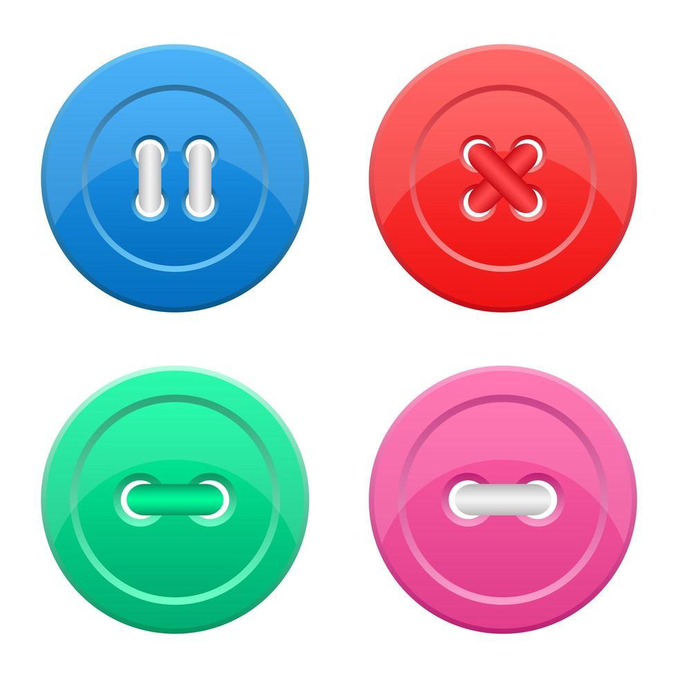 bouton de vêtements mis illustration de conception de vecteur isolé sur fond blanc