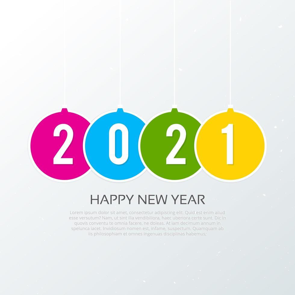 bonne année 2021 fond de typographie vecteur
