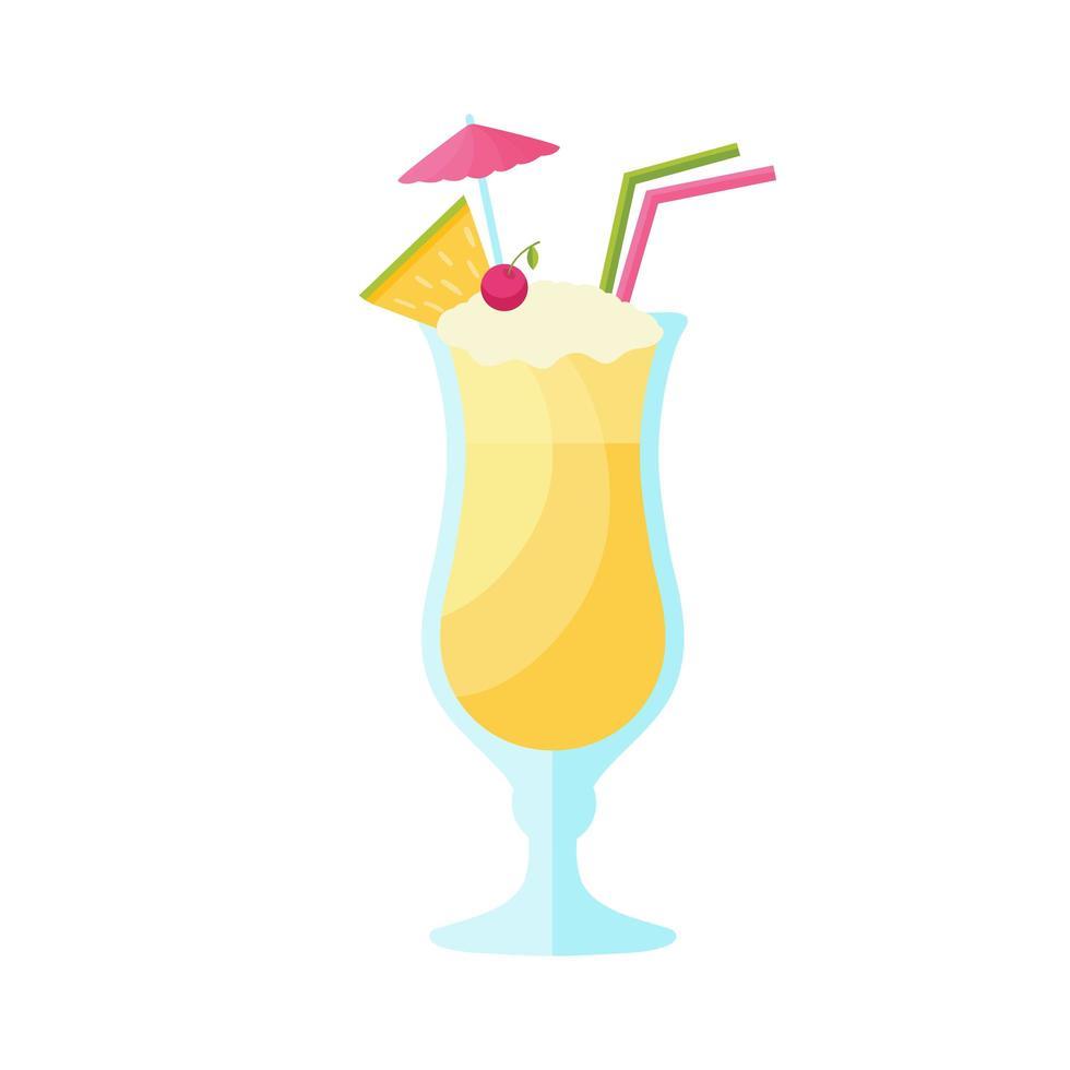conception de vecteur de boisson cocktail pina colada.