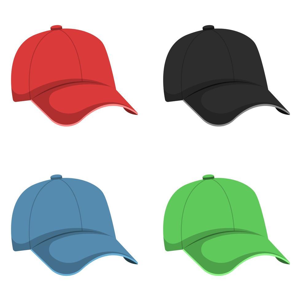 illustration de conception de vecteur de casquette isolée sur fond blanc