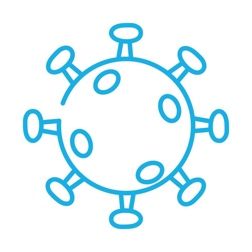 style de ligne de particules de virus covid19 vecteur
