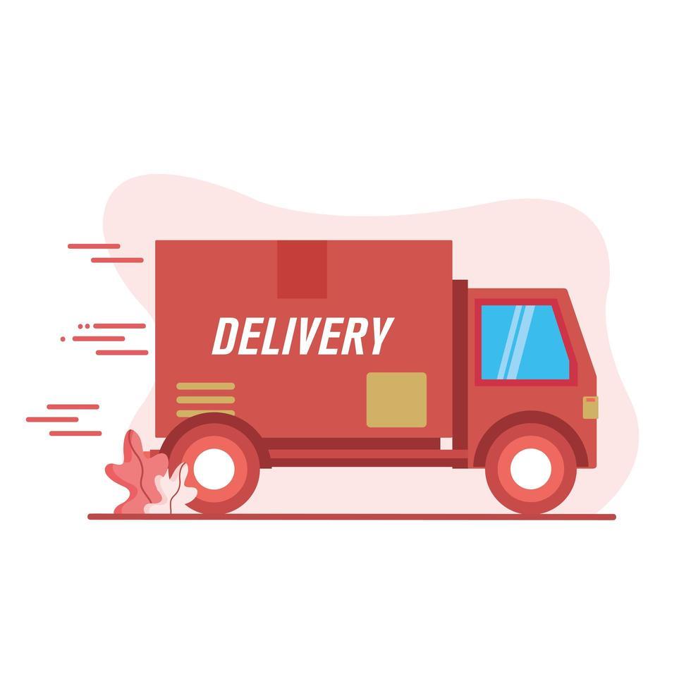 conception de vecteur d & # 39; icône de camion de livraison