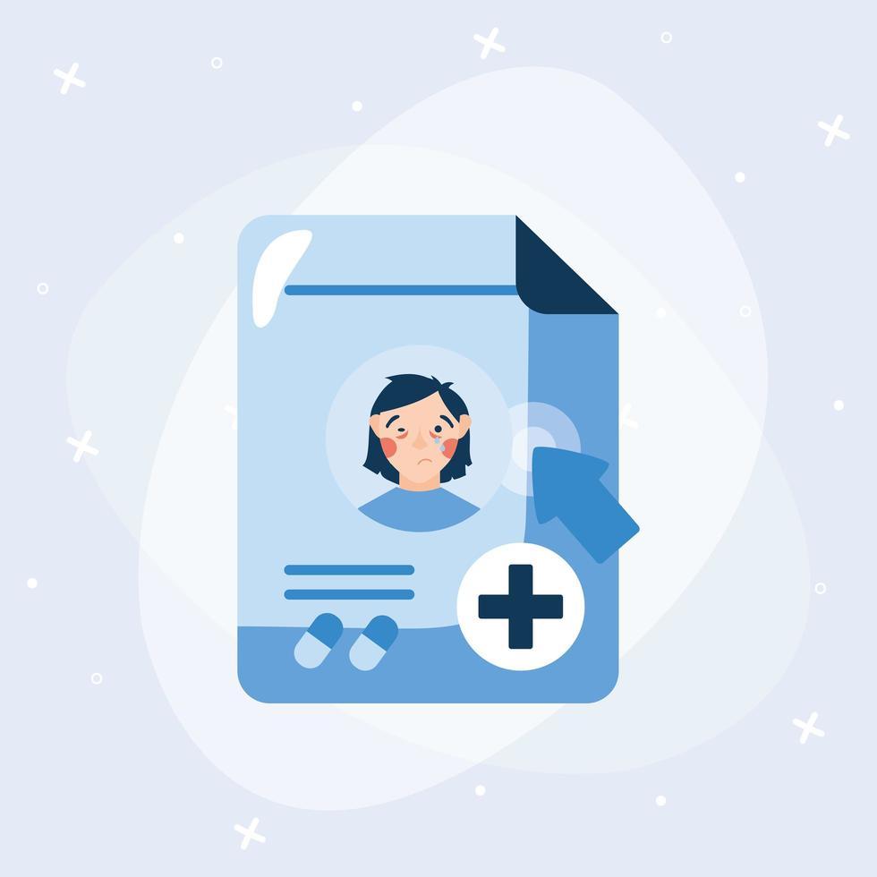 femme malade avec froid sur la conception de vecteur de site Web