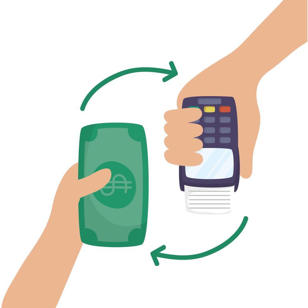 machine à bons avec factures dollars commerce électronique vecteur