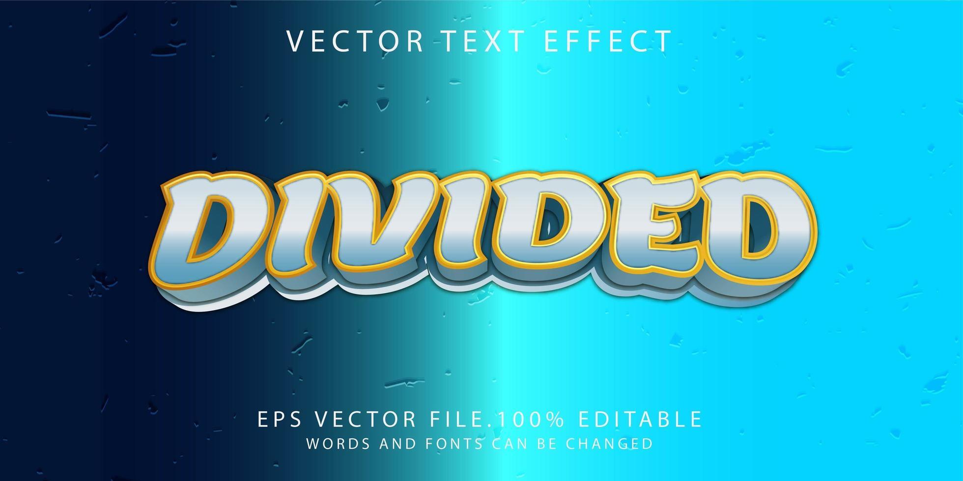 effet de texte divisé vecteur