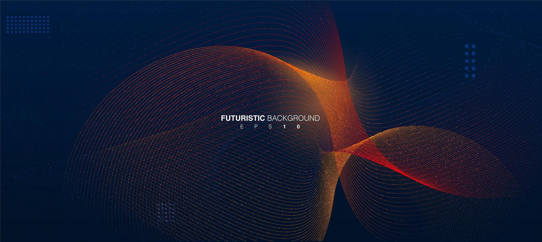 fond de ligne futuriste avec effet de lumière vecteur