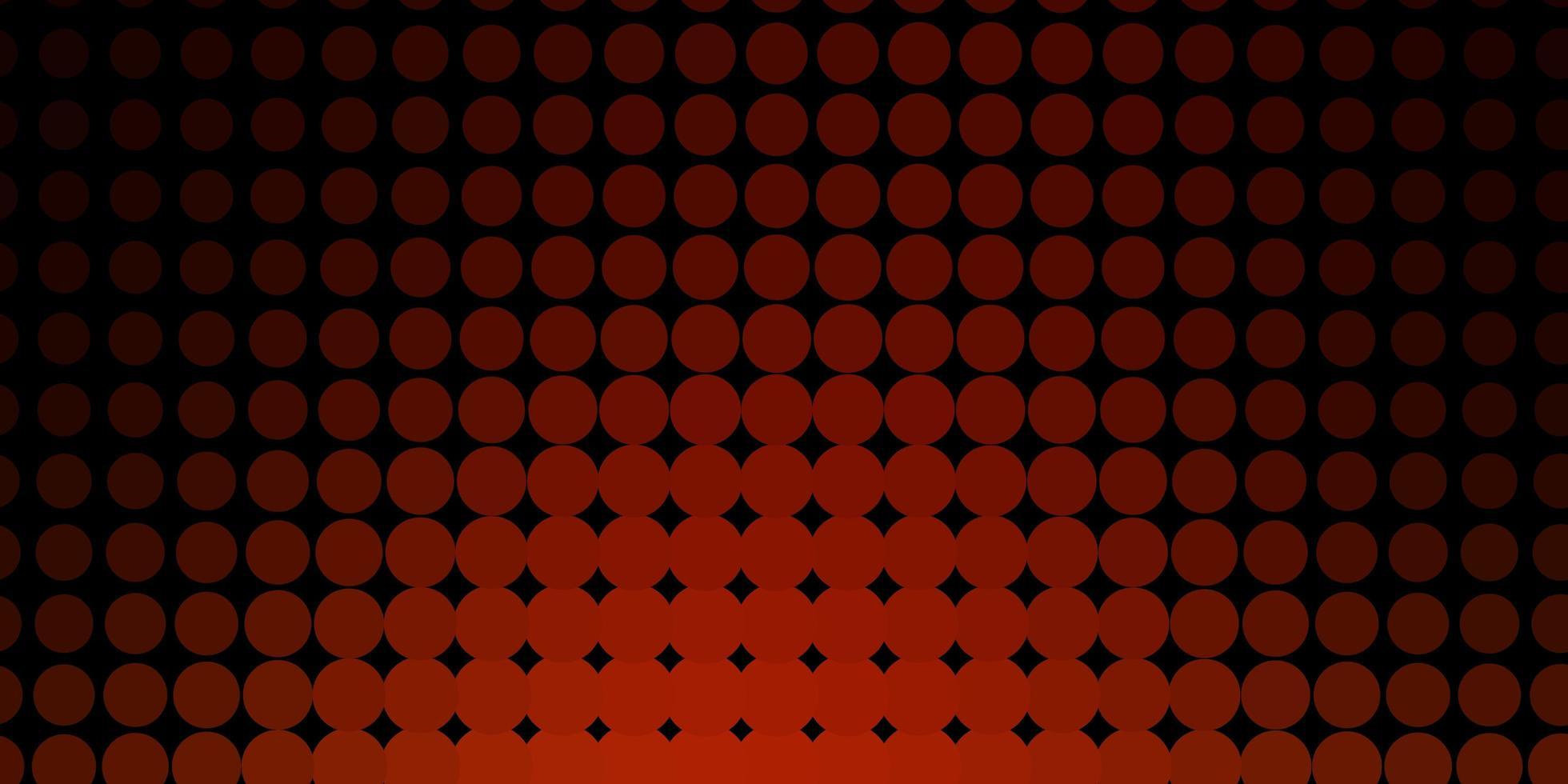 fond de vecteur orange foncé avec des bulles.