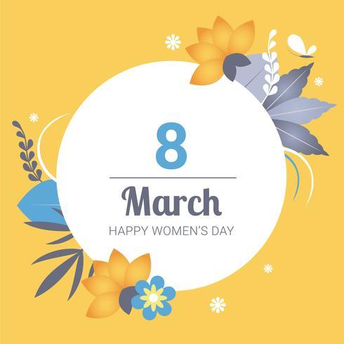 8 mars vecteur de carte de voeux