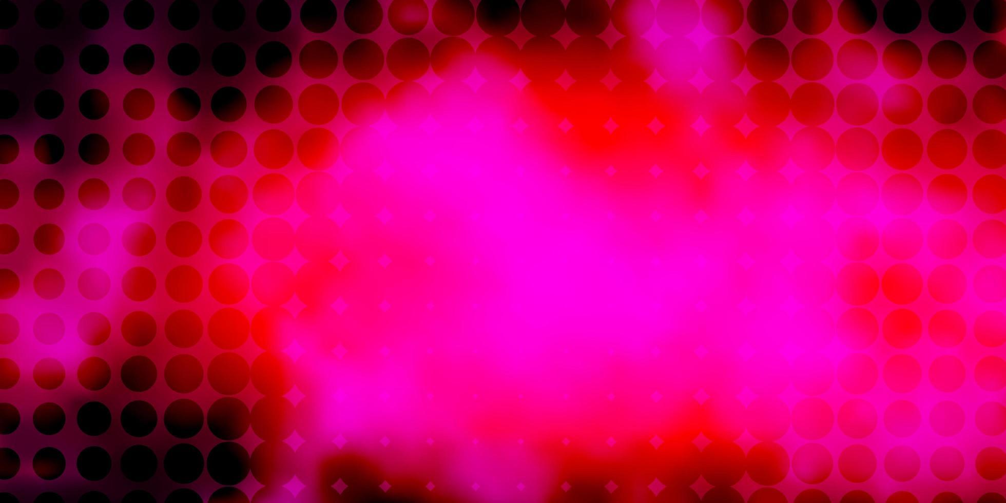modèle vectoriel rose foncé avec des cercles.