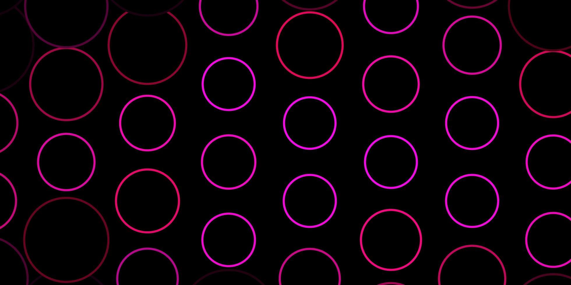 fond de vecteur rose foncé avec des cercles.