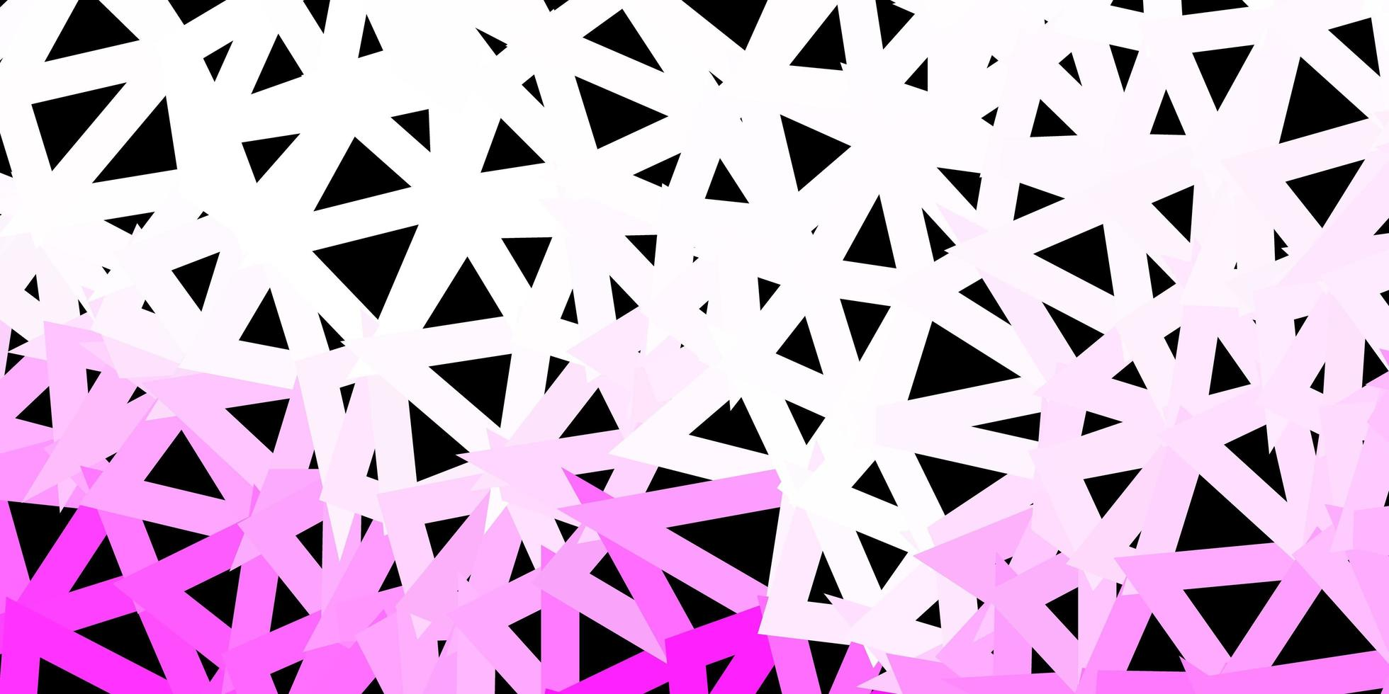 fond polygonale de vecteur rose clair.