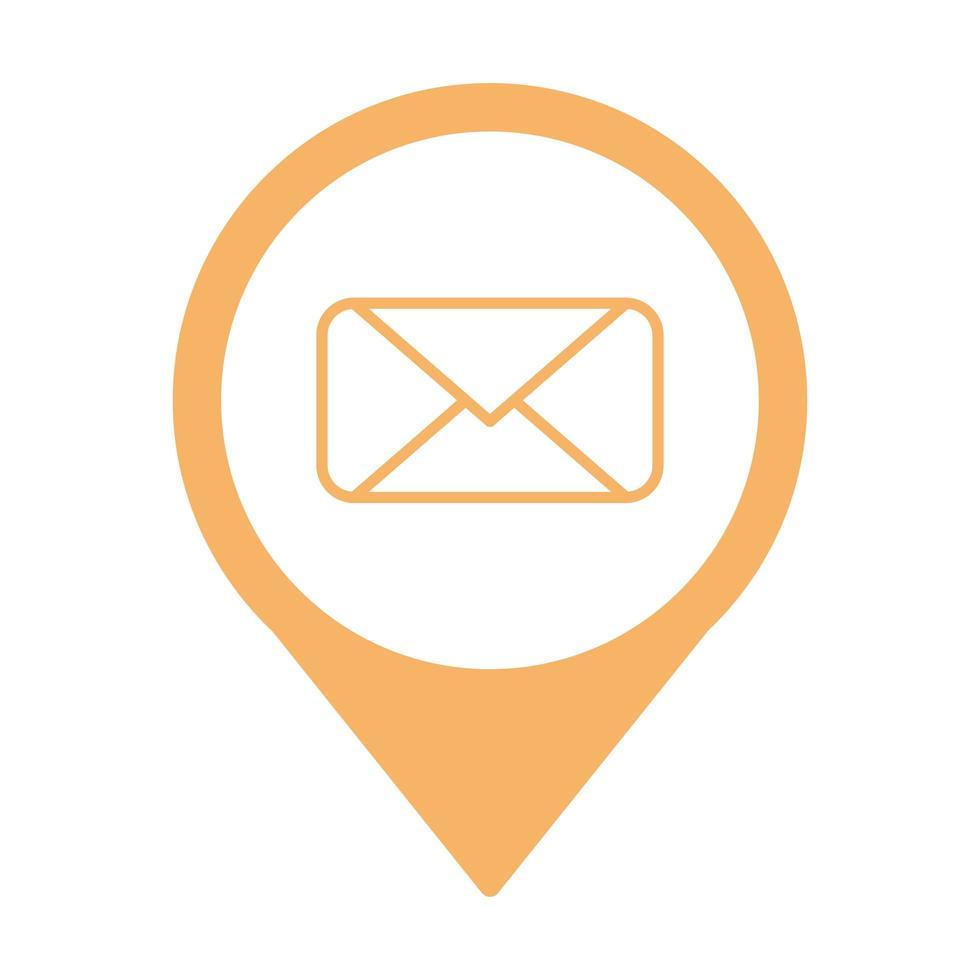 enveloppe courrier à l'emplacement de la broche vecteur