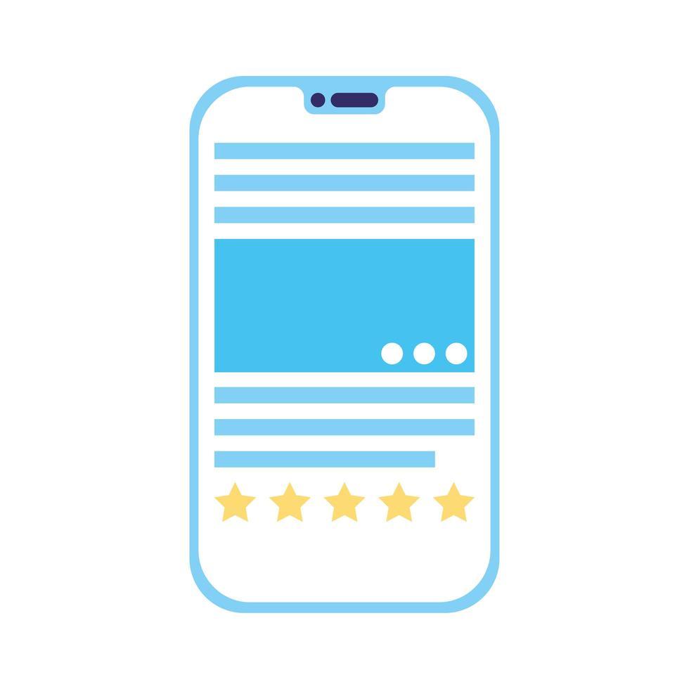 icône isolé de la technologie du périphérique smartphone vecteur