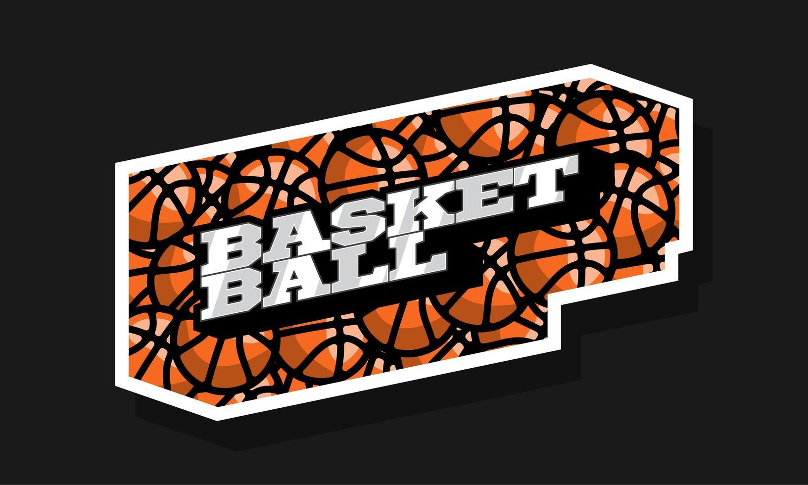 logo de sport de basket-ball typographie professionnelle moderne vecteur