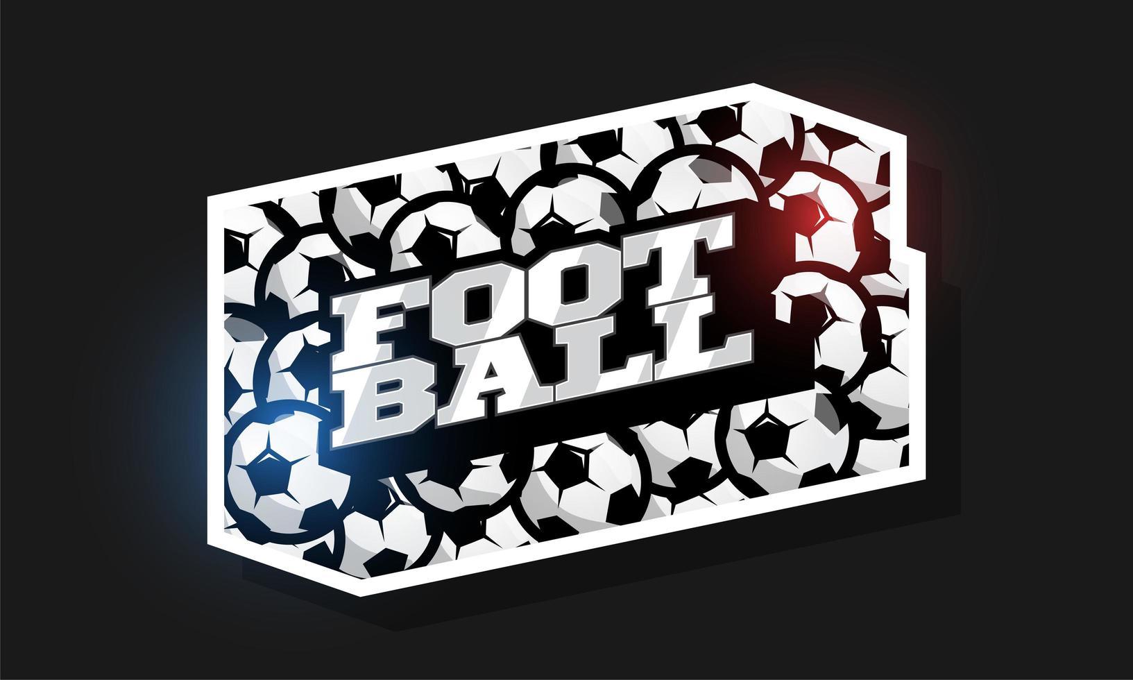 logo de style rétro sport typographie professionnelle moderne football vecteur