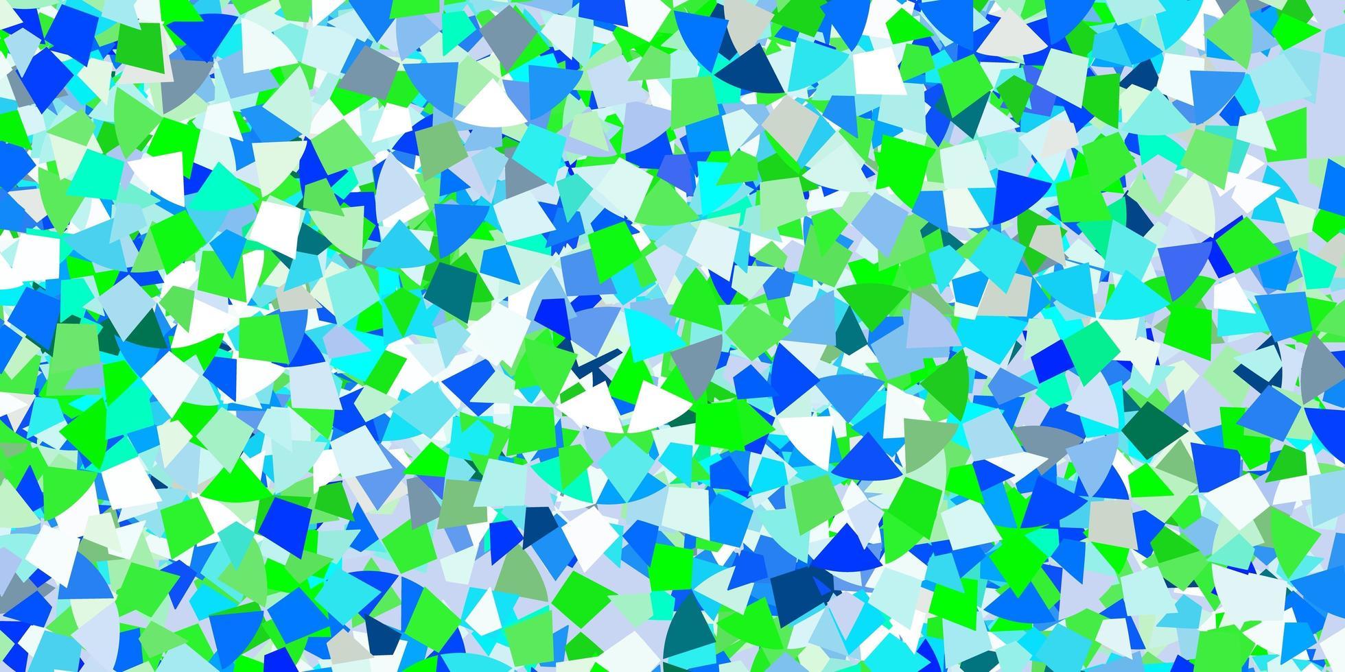modèle vectoriel bleu clair avec des cristaux, des triangles.