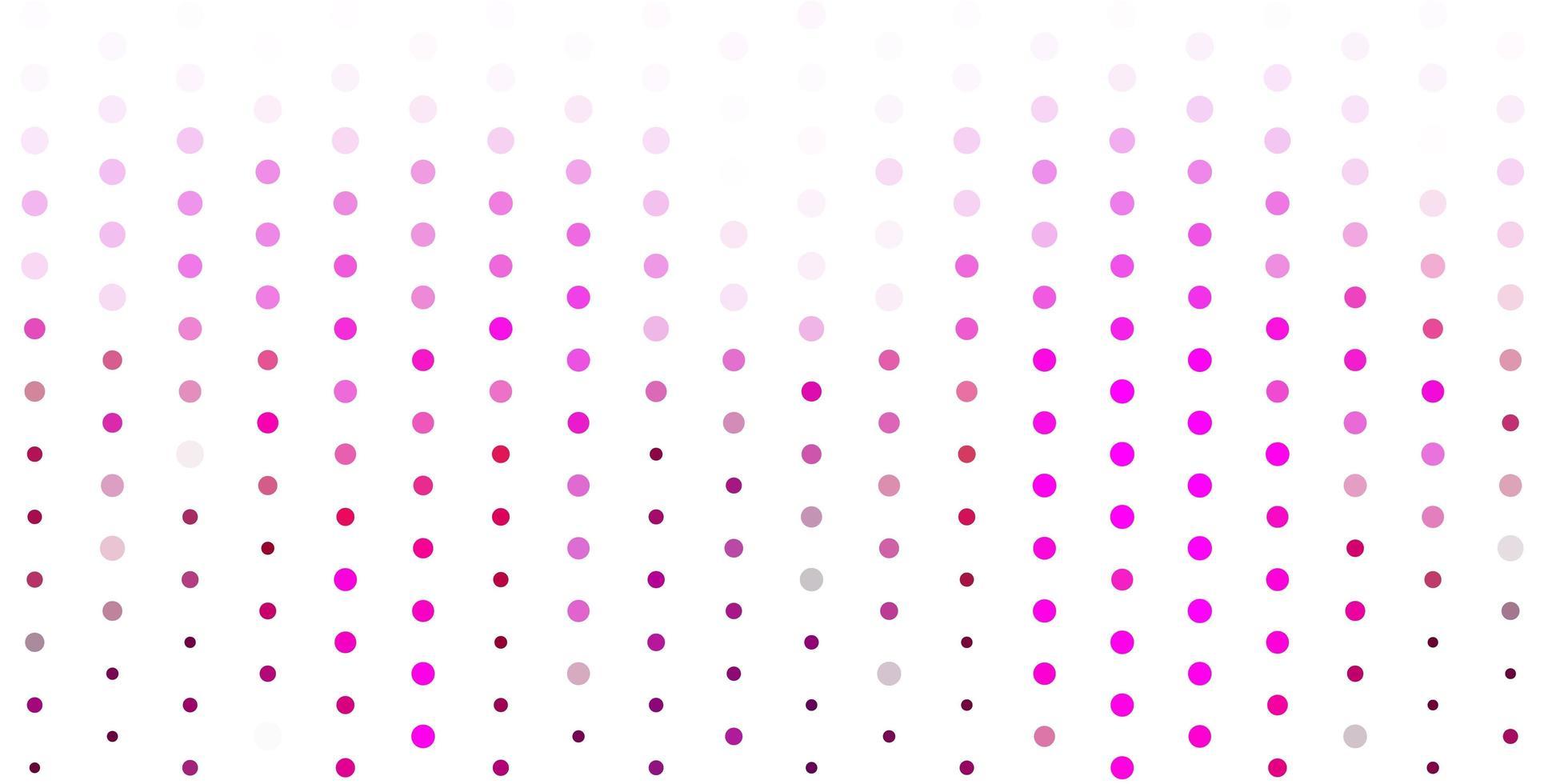 modèle vectoriel rose clair avec des cercles.