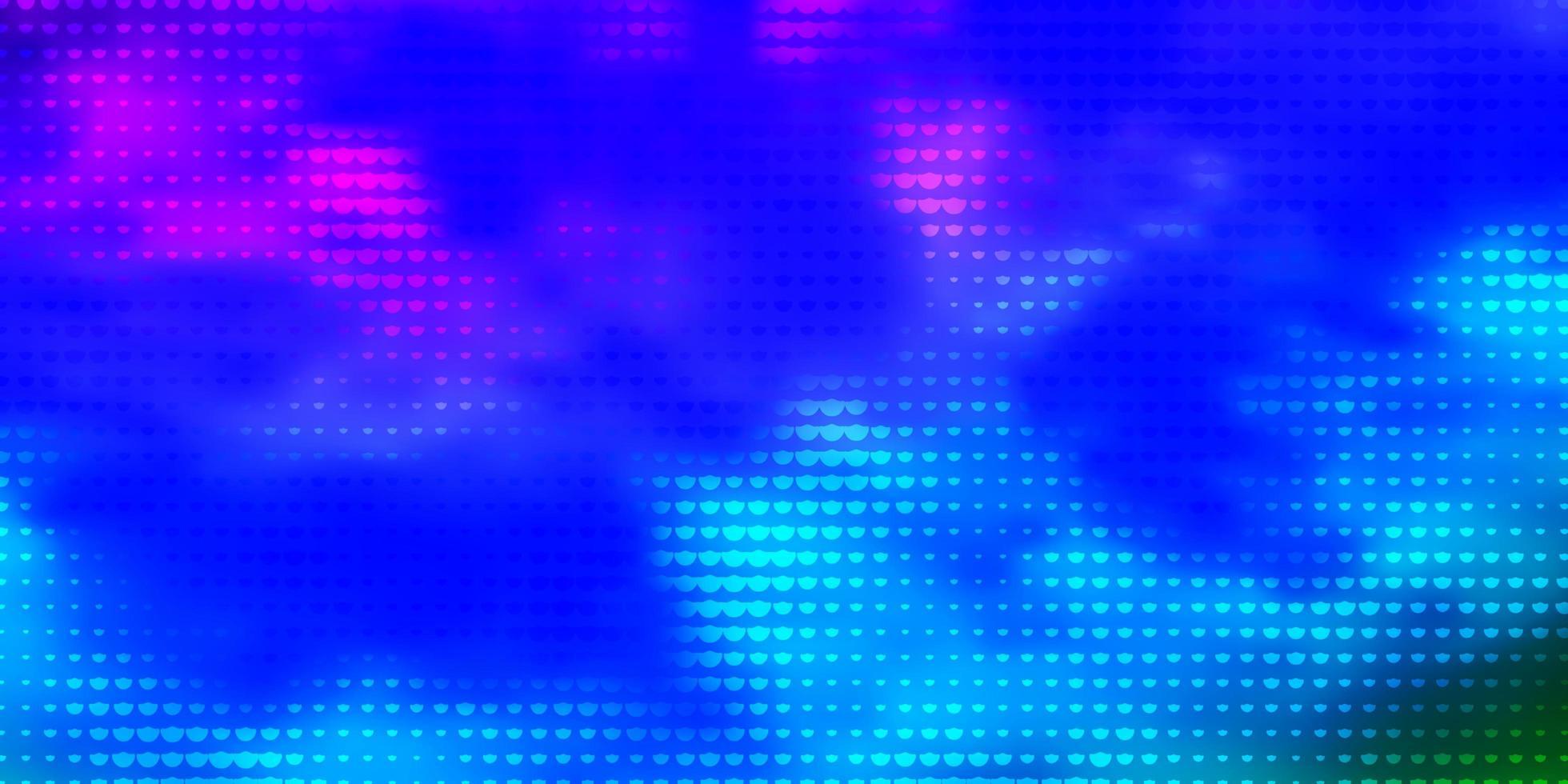 fond de vecteur multicolore clair avec des cercles.
