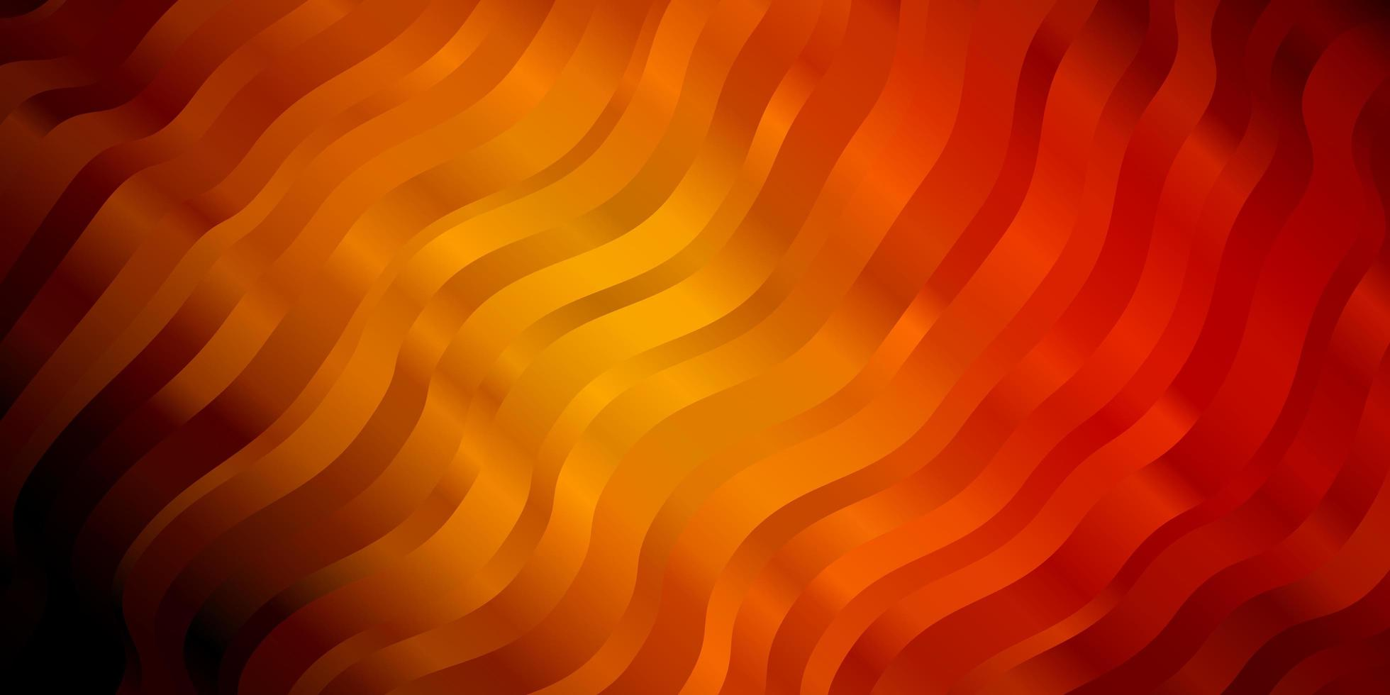 modèle vectoriel orange foncé avec des lignes ironiques.